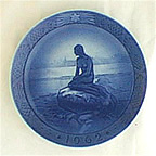 The Little Mermaid At Wintertime Collector Plate by Oluf Jensen