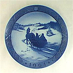 Fetching The Christmas Tree Collector Plate by Oluf Jensen
