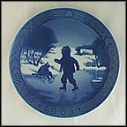 Little Skaters Collector Plate by Kai Lange