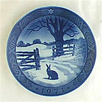 Hare In Winter Collector Plate by Oluf Jensen