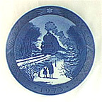 Train Homeward Bound For Christmas Collector Plate by Kai Lange