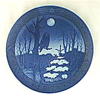 Winter Twilight Collector Plate by Oluf Jensen