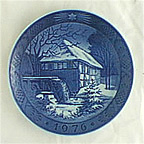 Danish Watermill Collector Plate by Kai Lange