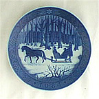 Jingle Bells Collector Plate by Kai Lange
