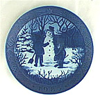 The Snowman Collector Plate by Kai Lange