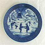 The Old Skating Pond Collector Plate by Sven Vestergaard