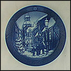 Lighting The Street Lamps Collector Plate by Sven Vestergaard