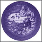 Winter In The Forest Collector Plate by Sven Vestergaard