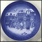 Christmas Tree Salesman Collector Plate by Allan Therkelsen