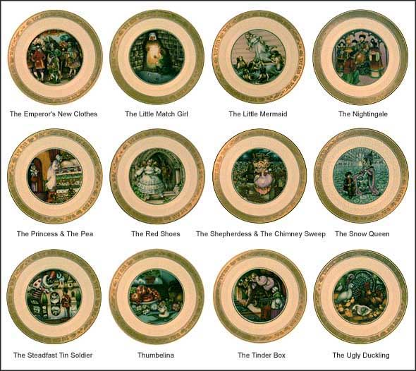 Hans Christian Andersen - Set of 12 By Pauline Ellison Collector Plate by Sven Vestergaard MAIN