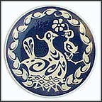 Bird In Nest Collector Plate by Arne Ungermann