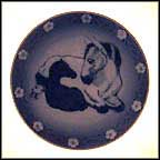Mother Horse And Her Young One Collector Plate by Sven Vestergaard MAIN