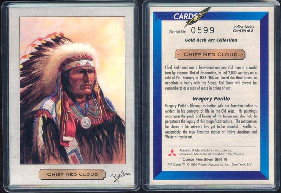 Chief Red Cloud by Gregory Perillo; 1 oz 999.9 silver MAIN