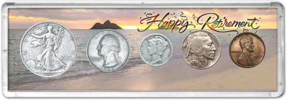 1937 Retirement Coin Gift Set LARGE