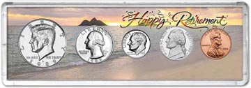 1989 Retirement Coin Gift Set THUMBNAIL