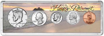 1990 Retirement Coin Gift Set THUMBNAIL
