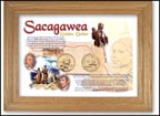 Sacagawea Golden Dollar Two-Coin Collector Frame THUMBNAIL