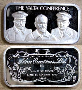 Yalta Conference' Art Bar by Silver Creations.