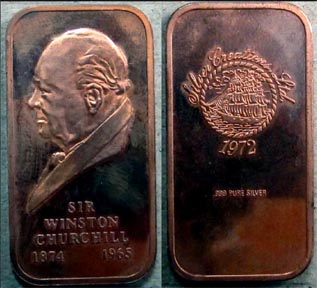 Winston Churchill' Art Bar by Silver Creations.