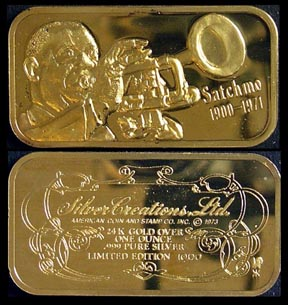 Satchmo - gold plated' Art Bar by Silver Creations. MAIN