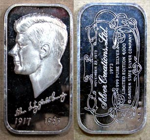 John F. Kennedy' Art Bar by Silver Creations.