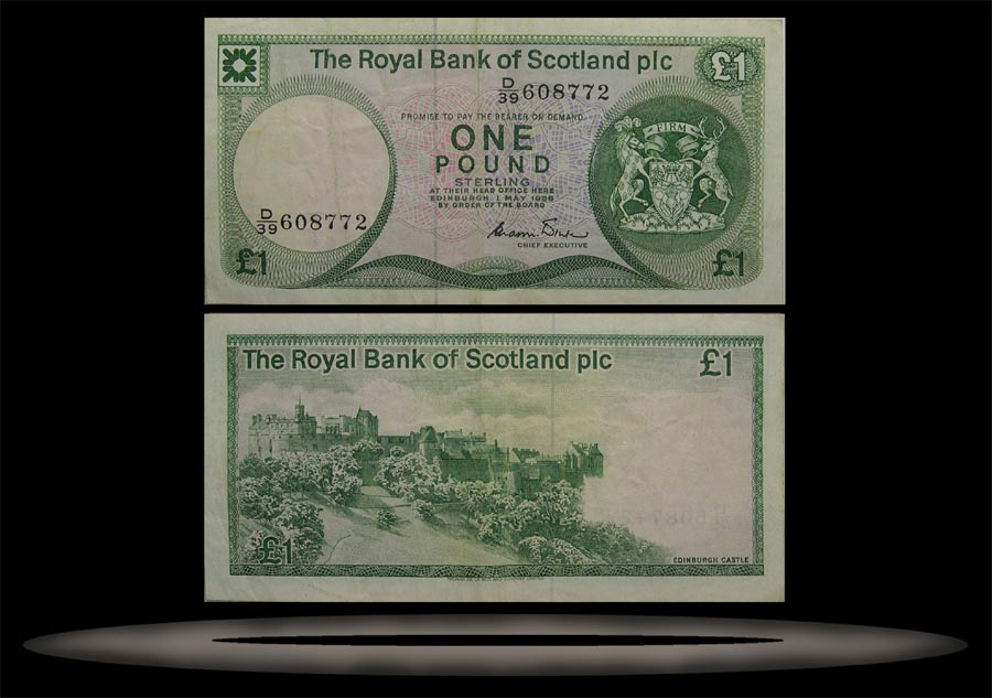 Royal Bank, Scotland Banknote, 1 Pound, 3.1.1985, P#341b