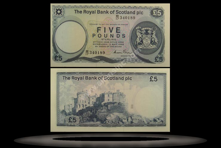 Royal Bank, Scotland Banknote, 5 Pounds, 3.5.1982, P#342a