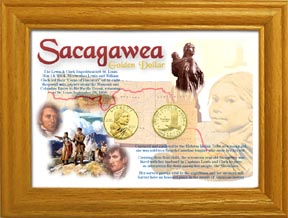 Sacagawea Golden Dollar 2-Coin Display