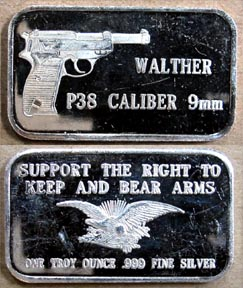 Walther P38 Caliber 9mm' Art Bar by Southeast Refining.