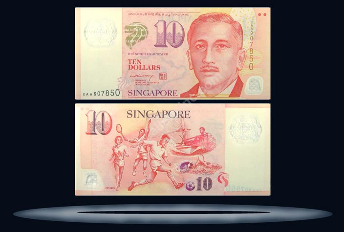 Singapore Banknote, 10 Dollars, ND (2005), P#48 MAIN