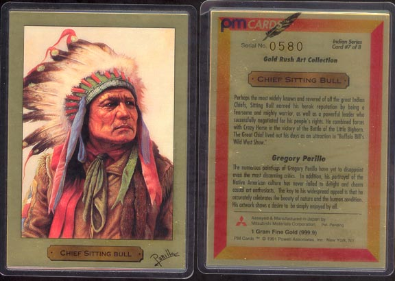 Chief Sitting Bull by Gregory Perillo; 1 g 999.9 Gold MAIN