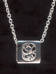 Sterling Silver Necklace, Number 9