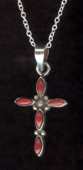Sterling Silver Necklace, Cross
