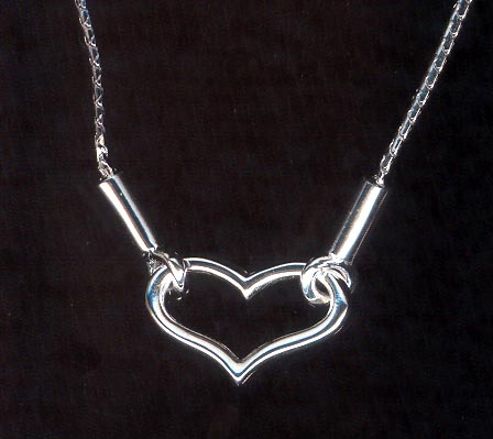 Sterling Silver Necklace, Heart