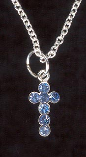 Sterling Silver Necklace, Tiny Cross