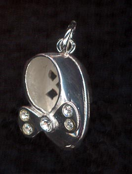 Sterling Silver Charm, Baby Shoe