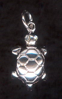 Sterling Silver Charm, Turtle