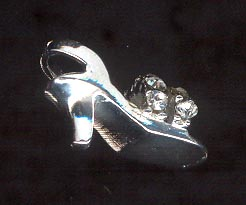 Sterling Silver Charm, Shoe