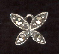 Sterling Silver Charm, Butterfly