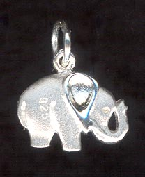 Sterling Silver Charm, Elephant