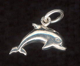 Sterling Silver Charm, Dolphin