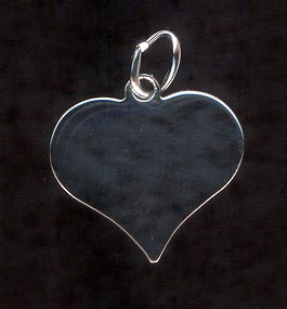 Sterling Silver Charm, Heart