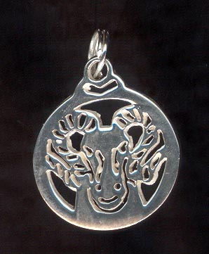 Sterling Silver Charm, Aries