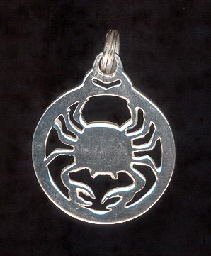 Sterling Silver Charm, Cancer
