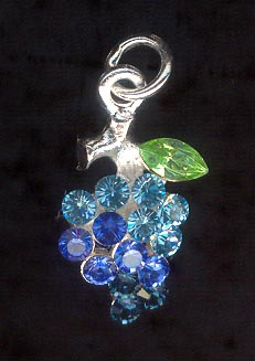 Sterling Silver Charm, Bunch of Grapes