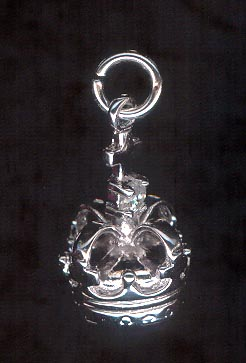 Sterling Silver Charm, Crown
