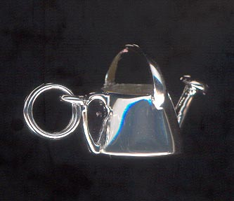 Sterling Silver Charm, Tea Kettle