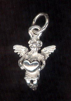 Sterling Silver Charm, Cupid