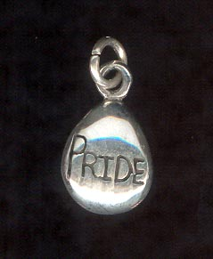 Sterling Silver Charm, Pride