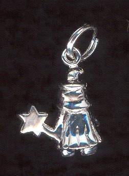 Sterling Silver Charm, Fairy Godmother